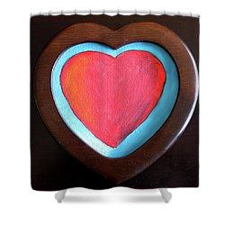Hearts Afire Shower Curtain