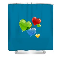 Hearts 11 T-shirt Shower Curtain