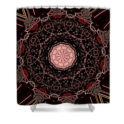 Hearts Forever Shower Curtain by Natalie Holland