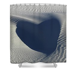 Hearts In The Desert Shower Curtain by Vivian Christopher