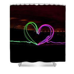 Hearts In The Night Shower Curtain