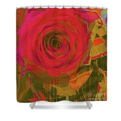 Hearts 'n Flowers-what Quarrel Shower Curtain