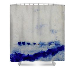 Hearts On A Wire Shower Curtain