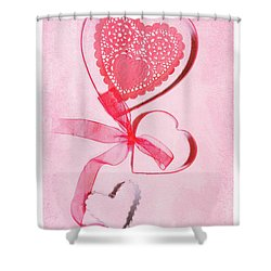 Shower Curtain featuring the photograph Hearts by Rebecca Cozart