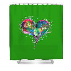 Hearts 6 T-shirt Shower Curtain