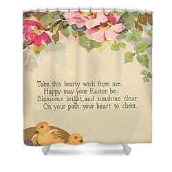 Hearty Wish Shower Curtain by David and Lynn Keller