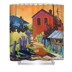 Shower Curtain featuring the painting Heat Of The Day by Rae Andrews