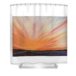 Heat On The Bay Shower Curtain