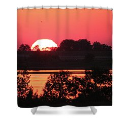 Heat Wave Sunrise Shower Curtain