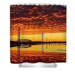 Swing Bridge Heat Shower Curtain