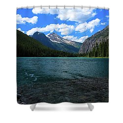 Heavan's Peak From Avalanche Lake Shower Curtain
