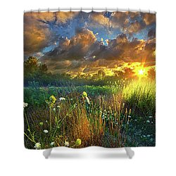 Heaven Knows Shower Curtain by Phil Koch