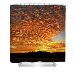 Heaven Sent Golden Sunrise Shower Curtain
