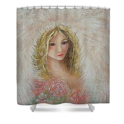 Heavenly Angel Shower Curtain by Natalie Holland