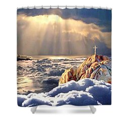 Heavenly Ascension Shower Curtain