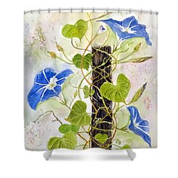 Heavenly Blue Twine Shower Curtain