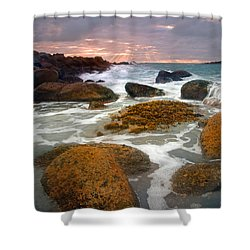 Heavenly Dawning Shower Curtain by Mike  Dawson