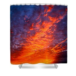 Heavenly Flames Shower Curtain