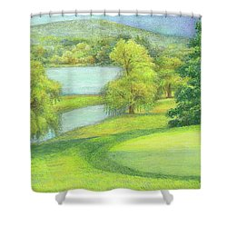 Heavenly Golf Day Landscape Shower Curtain