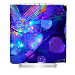 Heavenly Hearts Shower Curtain by Marlene Rose Besso