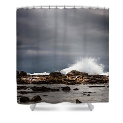 Heavenly Light Shower Curtain by Ed Clark