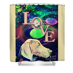 Shower Curtain featuring the digital art Heavenly Love by Kathy Tarochione