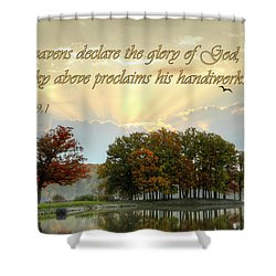 Heavenly Morning Shower Curtain