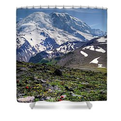 Heavenly Mountain Shower Curtain