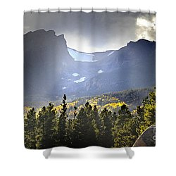 Shower Curtain featuring the photograph Heavenly Rockies  Rmnp by Nava Thompson