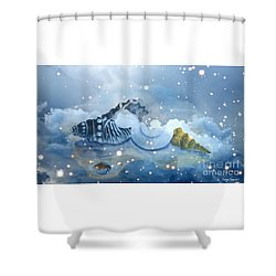 Heavenly Shells Shower Curtain
