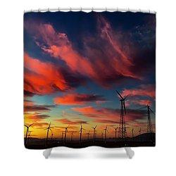 Heavenly Sunrise Shower Curtain