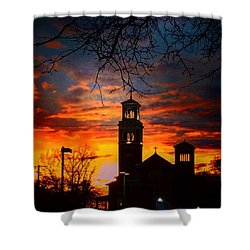 Heavenly Sunset Shower Curtain