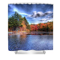 Heaven's Blue Shower Curtain