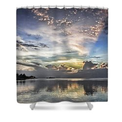 Heaven's Light - Coyaba, Ironshore Shower Curtain by John Edwards