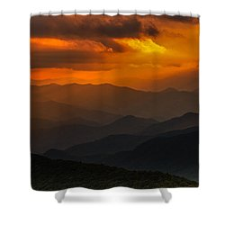 Heaven's Light On The Blue Ridge Parkway Shower Curtain