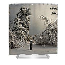 Heavy Laden Christmas Card Shower Curtain by Lois Bryan
