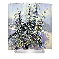 Heavy Snow In The Cascades Shower Curtain