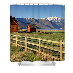 Heber Valley Ranch House - Wasatch Mountains Shower Curtain