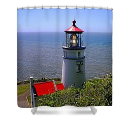 Shower Curtain featuring the photograph Heceta Head Lighthouse by Wendy McKennon