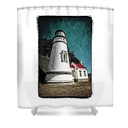 Hecitia Head Lighthouse Shower Curtain