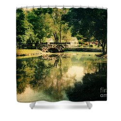 Heckscher Park Pond, Huntington Ny Shower Curtain