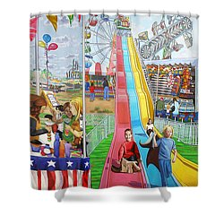 Hecksher Park Fair Shower Curtain