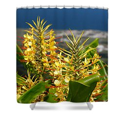 Hedychium Gardnerianum Shower Curtain by Gaspar Avila