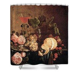 Heem Jan Davidsz De Still Life With Flowers And Fruit Shower Curtain