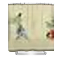 Hegassen Scroll 36 Parts Shower Curtain
