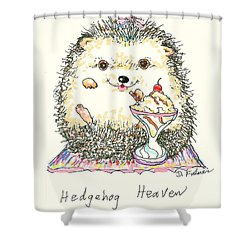 Hedgehog Heaven Shower Curtain