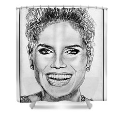Heidi Klum In 2010 Shower Curtain