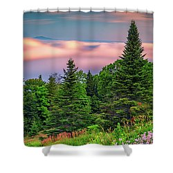 Shower Curtain featuring the photograph Height Of Land by Rick Berk