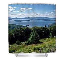 Height Of The Land Overlooking Mooselookmeguntic Lake Shower Curtain