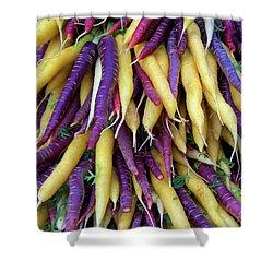 Heirloom Rainbow Carrots Shower Curtain